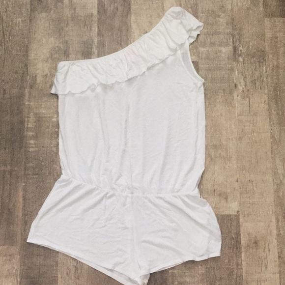 4227d159e6a White Victoria secret bathing suit coverup romper.  M 5b2be68f819e907dfd96e91f